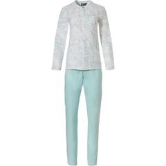 Pastunette Deluxe long sleeve full button pyjama set 'modern abstract line art'