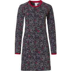 Rebelle Girls girls long sleeve cotton nightdress 'poodles of love ♥ '