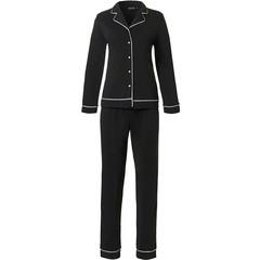 Pastunette Deluxe doorknoop pyjama voor dames met lange mouwen 'satin soft luxury'