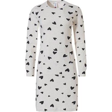 Rebelle nachthemd met lange mouwen en kangoeroezak '♥loving hearts ♥'