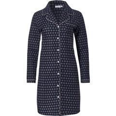 Pastunette doorknoop flanellen nachthemd voor dames 'classy little circles'