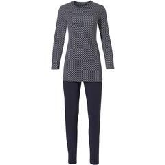 Pastunette Deluxe dames pyjama met lange mouwen 'trendy micro circles'