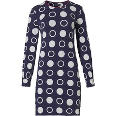 Pastunette Deluxe dames nachthemd met lange mouwen 'trendy mega circles'