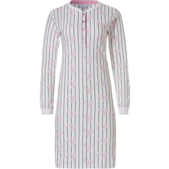 Pastunette cotton nightdress with buttons 'femme floral stripes'