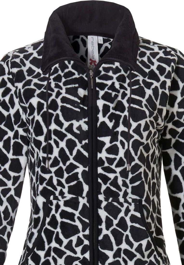 Rebelle fleece home-loungeset 'giraf print'