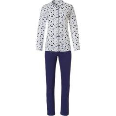 Pastunette ladies full button cotton pyjama set 'groovy circles'
