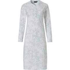 Pastunette Deluxe long sleeve nightdress with buttons 'modern abstract line art'