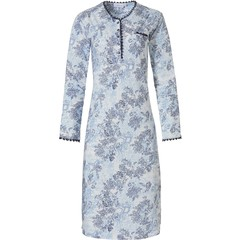 Pastunette ladies cotton-modal nightdress with buttons  'vintage flower'