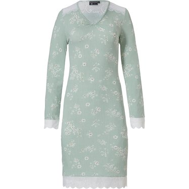 Pastunette Deluxe luxe dames nachthemd 'sweet little flowers, stripes & lace'