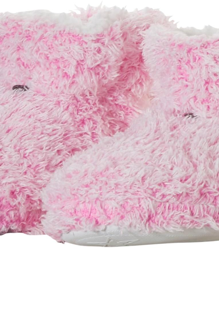 Rebelle zachte fleece enkelhoge sloffen 'fluffy pink'