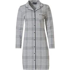 Pastunette Deluxe cotton-modal full button nightdress 'checks in style'