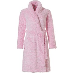 Rebelle fleecy wrap-over dressinggown 'fluffy pink'