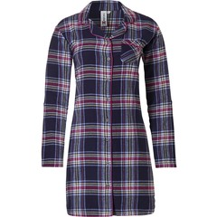 Rebelle flanellen doorknoop nachthemd 'cool trendy checks'