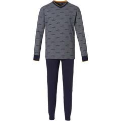 Pastunette jr boy's cotton pyjama with cuffs 'crazy cabs'