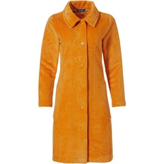 Pastunette Deluxe soft embossed fleece luxury full button house coat 'herringbone lines'