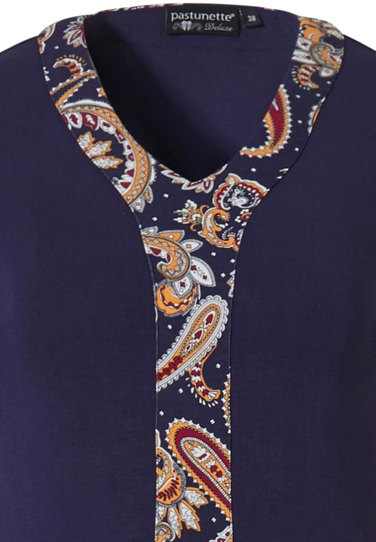 Pastunette Deluxe luxe nachthemd met lange mouwen 'a little elegantly paisley'