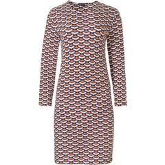 Pastunette Deluxe luxe damesnachthemd met lange mouwen 'geometric macro art'