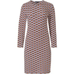 Pastunette Deluxe luxury long sleeve nightdress 'geometric macro art'