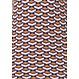 Pastunette Deluxe oranje oker, blauw-wit nachthemd met lange mouwen in een stijlvol all-over 'geometric macro art' patroon