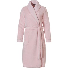 Pastunette Deluxe pale pink soft fleece wrap-over mornninggown 'stitch pretty'
