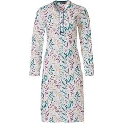 Pastunette Deluxe damesnachthemd van katoen-modal 'pretty little leaves'