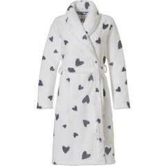 Rebelle coral fleece wrap-over dressinginggown 'chic love hearts ♥'