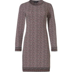 Pastunette Deluxe long sleeve cotton-modal nightdress 'micro dots & circles'