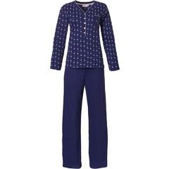 Pastunette long sleeve cotton pyjama set with buttons 'pretty little dutch flowers'