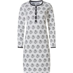 Pastunette ladies off-white nightdress with buttons 'circle of leaves'