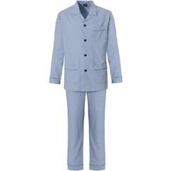 Robson men's woven cotton full button pyjama 'cubes & stars'