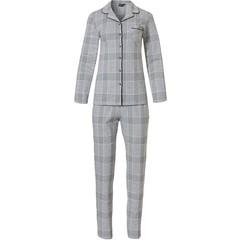 Pastunette Deluxe cotton-modal full button pyjama 'checks in style'