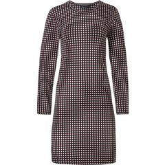 Pastunette Deluxe ladies long sleeve cotton-modal nightdress 'trendy circle lines'