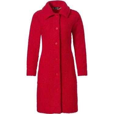 Pastunette Deluxe 'chic rouge red' luxe boucl' doorknoop jasje met kraag en twee zakken