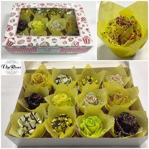 Rozen.nl Choco cupcake easter mix (x12)
