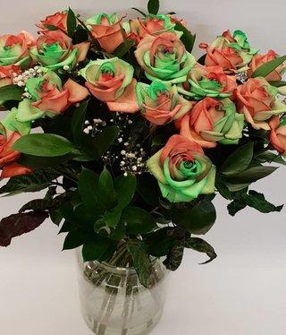 Rozen.nl Rainbow rozen Kerst