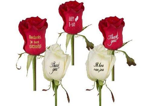 Printed roses