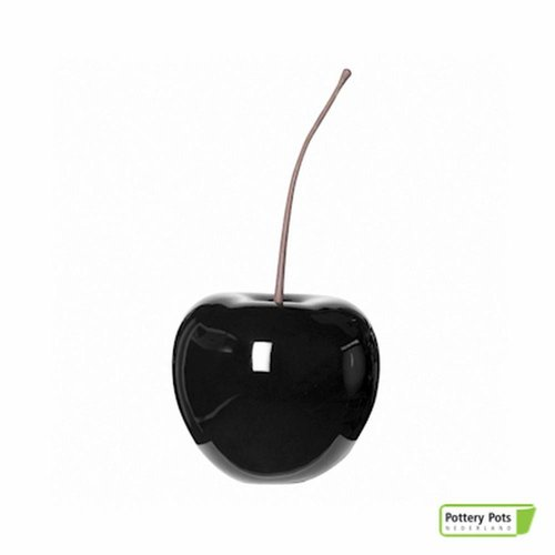 PotteryPots Cherry glossy black XS