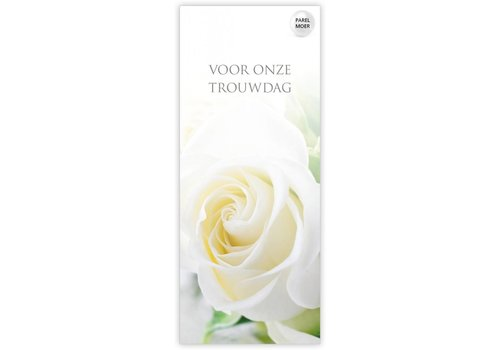 Rozen.nl kaartje Voor onze trouwdag