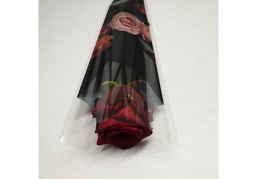 Rozen.nl Red Roses in a single sleeve - - Red