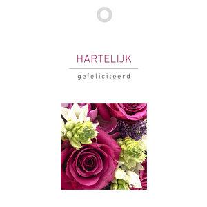 Rozen.nl kaartje Hartelijk Gefeliciteerd