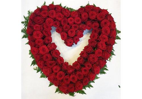 rozen.nl Rose heart open XXL