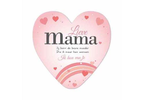 Rozen.nl Mothersday card heart shape