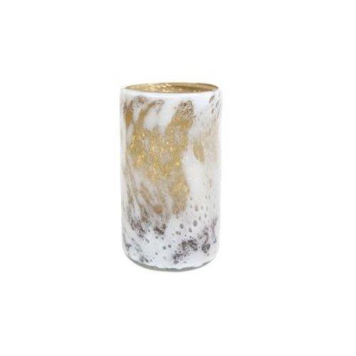 Rozen.nl Glass vase Aya cylinder mustard
