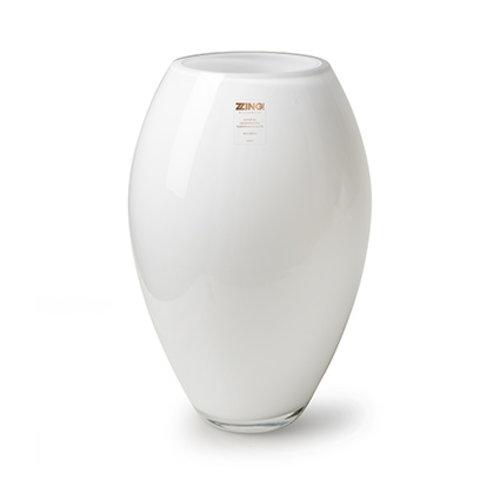 """Rozen.nl Vase Zzing """"Curve"""" white H30 D19"""