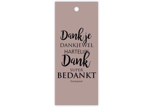 """rozen.nl Kaartje """"Dank je"""""""