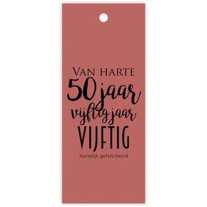 Rozen.nl van harte 50 jaar karte