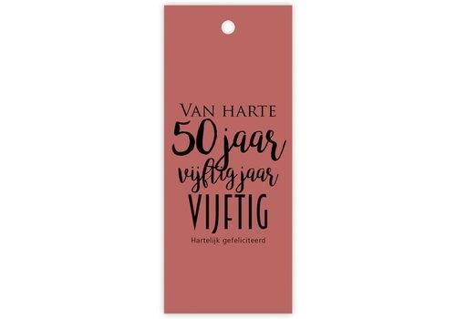Rozen.nl Van harte 50 jaar kaartje
