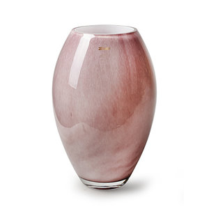 """Rozen.nl Vaas  Zzing """"Curve"""" pink H30 D19"""