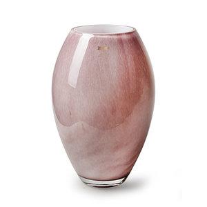 """Rozen.nl Vase Zzing """"Curve"""" pink H30 D19"""