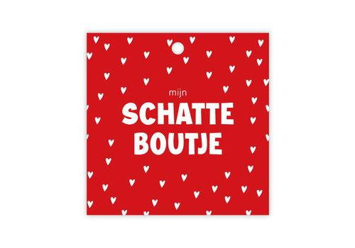 "rozen.nl Kaartje ""mijn schatteboutje"""